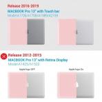 iBENZER MacBook Pro Koruyucu Kılıf (13 inç)-Rose Quartz
