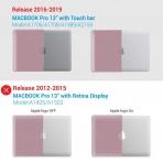 iBENZER MacBook Pro Koruyucu Kılıf (13 inç)-Rose Gold