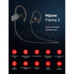 Mpow FLAME2 Bluetooth Kablosuz Kancalı Kulaklık-Black