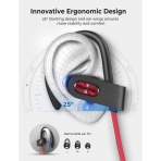 Mpow FLAME2 Bluetooth Kablosuz Kancalı Kulaklık-Red