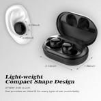 EDYELL Bluetooth Kablosuz Kulak İçi Kulaklık (Siyah)