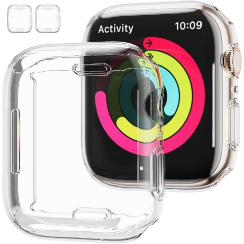 JZK Apple Watch 7 Ekran Koruyucu Bumper (41mm)(2 Adet)