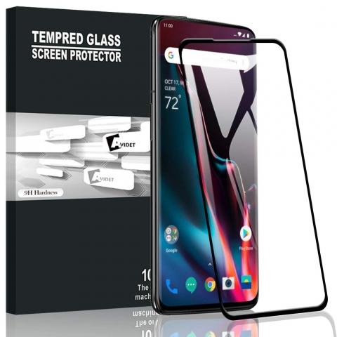 AVIDET Oneplus 7 Pro Temperli Cam Ekran Koruyucu (Siyah)