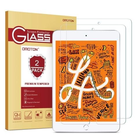 OMOTON iPad Mini 5 Temperli Cam Ekran Koruyucu (2 Adet)