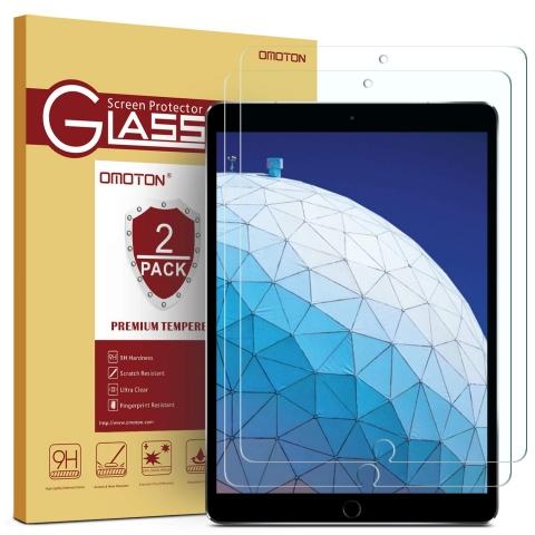 OMOTON iPad Air Temperli Cam Ekran Koruyucu (10.5inç) (2 Adet)