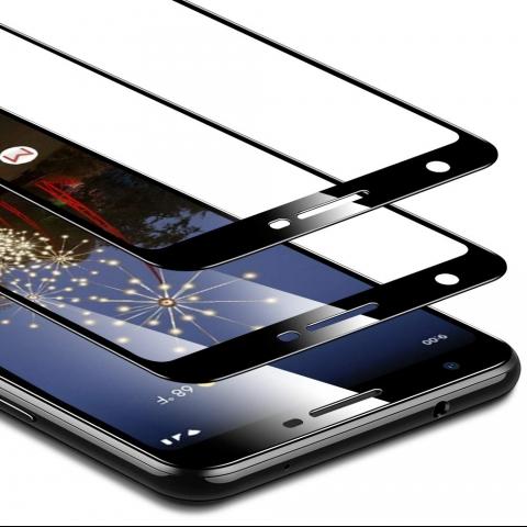ESR Google Pixel 3a Temperli Cam Ekran Koruyucu (2 Adet)(Siyah)