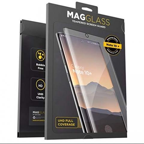 Magglass Galaxy Note 10 Plus Temperli Cam Ekran Koruyucu