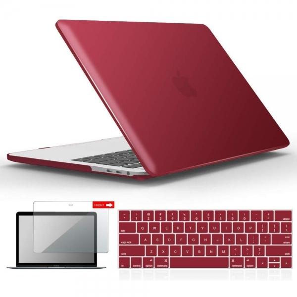 iBENZER MacBook Pro Koruyucu Kılıf (13 inç)-Wine Red