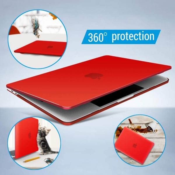 iBENZER MacBook Pro Koruyucu Kılıf (13 inç)-Red