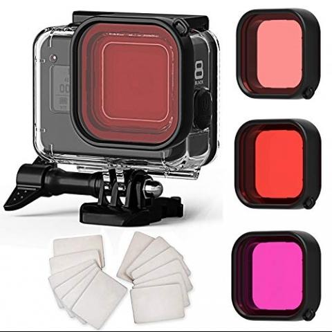 FitStill Gopro Hero 8 Black Su Geçirmez Kılıf ve Lens Seti