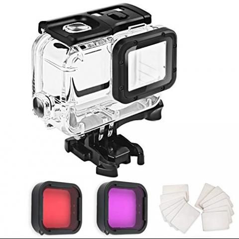 FitStill GoPro Hero 7 Black Su Geçirmez Kılıf ve Lens Seti
