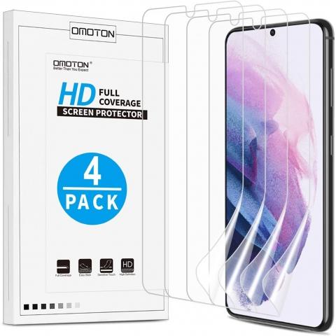 OMOTON Samsung Galaxy S21 Plus Ekran Koruyucu Film (4 Adet)