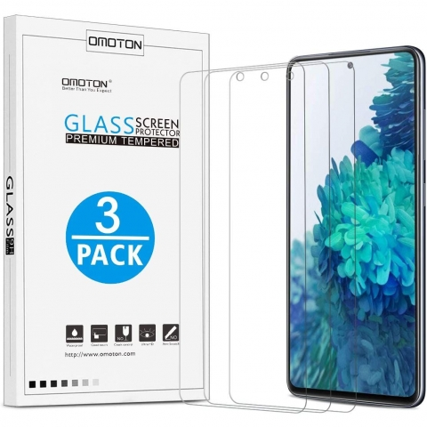 OMOTON Galaxy S20 FE Temperli Cam Ekran Koruyucu (3 Adet)