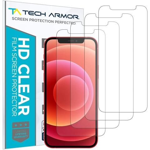 Tech Armor iPhone 12 Mini Ekran Koruyucu Film (4 Adet)