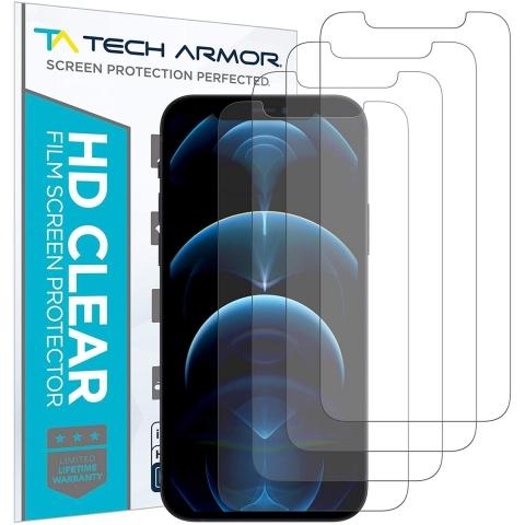 Tech Armor iPhone 12 Pro Max Ekran Koruyucu Film (4 Adet)