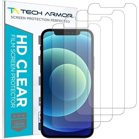Tech Armor iPhone 12 Ekran Koruyucu Film (4 Adet)