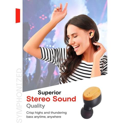 Symphonized SNRGY Bluetooth Kablosuz Kulak İçi Kulaklık (Siyah)
