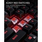 AUKEY KMG14 Mekanik Klavye (Kırmızı)