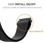 Acestar Samsung Galaxy Watch Metal Kayış (42mm)-Black