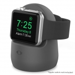 AhaStyle Apple Watch Silikon Şarj Standı-Dark Gray