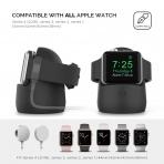 AhaStyle Apple Watch Silikon Şarj Standı-Black