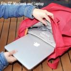 Amber And Ash Su Geçirmez Laptop Omuz Çantası (13.3 inç)-Red