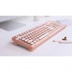 Azio Retro Klasik Bluetooth Vintage Mekanik Klavye (Posh)