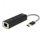 CableCreation USB 3.0 Hub/RJ45 Ethernet Bağlantısı (Siyah)