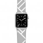 Casetify Apple Watch Kayış (42mm)-Grey Map Outline