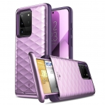 Clayco Galaxy S20 Ultra Argos Seri Kartlıklı Kılıf-Purple