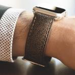 Clockwork Synergy Apple Watch Deri Kayış (42mm)-Auburn Bomber