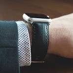 Clockwork Synergy Apple Watch Deri Kayış (42mm)-Black Vintage