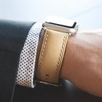 Clockwork Synergy Apple Watch Deri Kayış (42mm)-Camel Washed