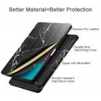 ESR iPad Pro Mermer Desenli Standlı Kılıf (11 inç)-Black Marble