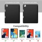 ESR iPad Pro Kalem Bölmeli Kılıf (12.9 inç)(4. Nesil)-Black