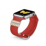 Elobeth Apple Watch Metal Tokalı Kayış (38/40mm)-Red