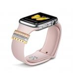 Elobeth Apple Watch Metal Tokalı Kayış (38/40mm)-Pink
