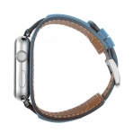 Elobeth Apple Watch Deri Kayış (38mm/40mm)-Blue