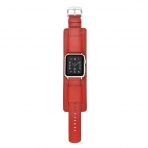 Elobeth Apple Watch Deri Kayış (38mm/40mm)-Red