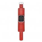 Elobeth Apple Watch Deri Kayış (44mm/42mm)-Red