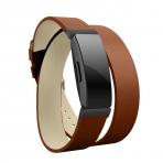 Elobeth Fitbit Inspire HR Deri Kayış (Small)-Brown
