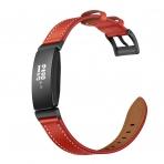 Elobeth Fitbit Inspire HR Deri Kayış-Red