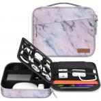 FINPAC Elektronik Aksesuar ve Tablet Çantası (11 inç)-Marble Pink