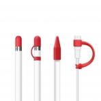 FRTMA Apple Pencil Kapak (4 Adet)-Red