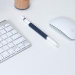 FRTMA Apple Pencil Manyetik Silikon Kılıf-Midnight Blue