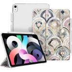 Fintie iPad Air 4 Kalem Bölmeli Kılıf (10.9 inç)-Z-Marble Tiles