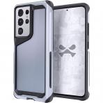 Ghostek Galaxy S21 Ultra Atomic Slim Serisi Kılıf (MIL-STD-810G)-Phantom Silver