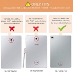 Infiland Galaxy Tab S5e Kalem Bölmeli Kılıf-Black