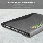 Infiland Galaxy Tab S7 Plus Business Standlı Kılıf (12.4 inç)-Gray