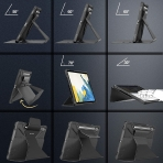 Infiland Galaxy Tab S7 Plus Standlı Kılıf (12.4 inç)-Black